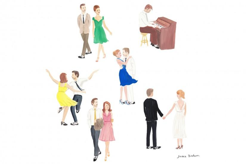 La La Land - review and illustration by Jackie Diedam