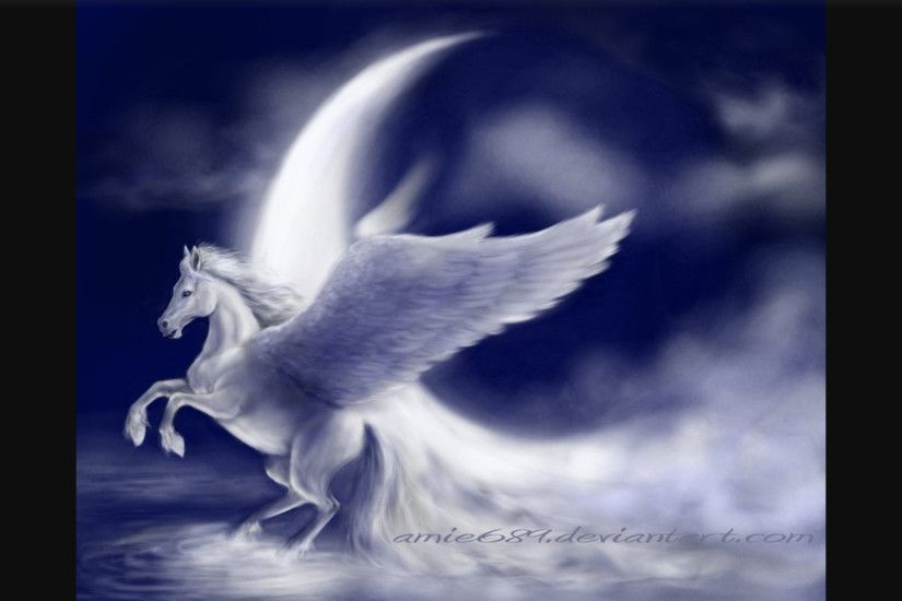SpiritRain images Pegasus by the moon HD wallpaper and background photos