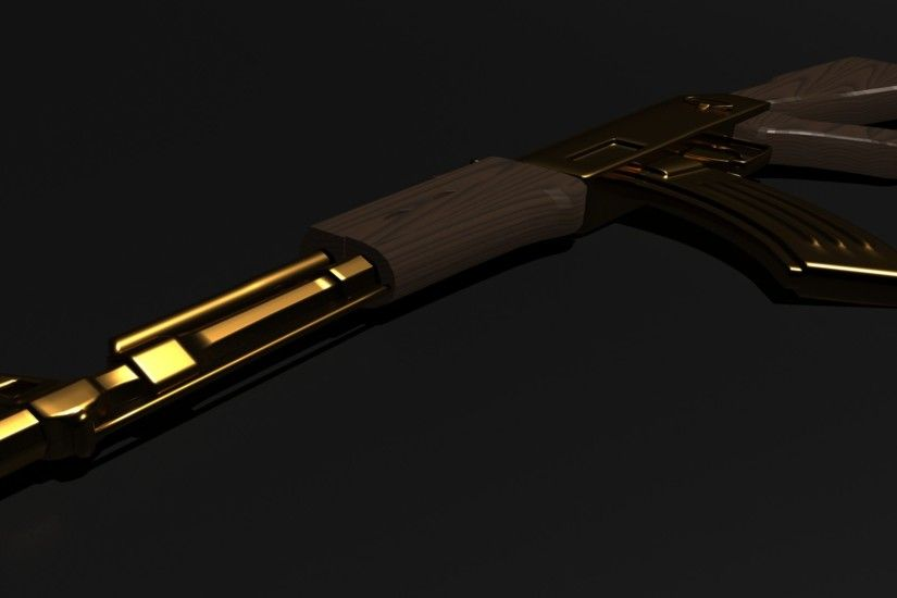 Gold AK 47 Wallpapers - WallpaperPulse