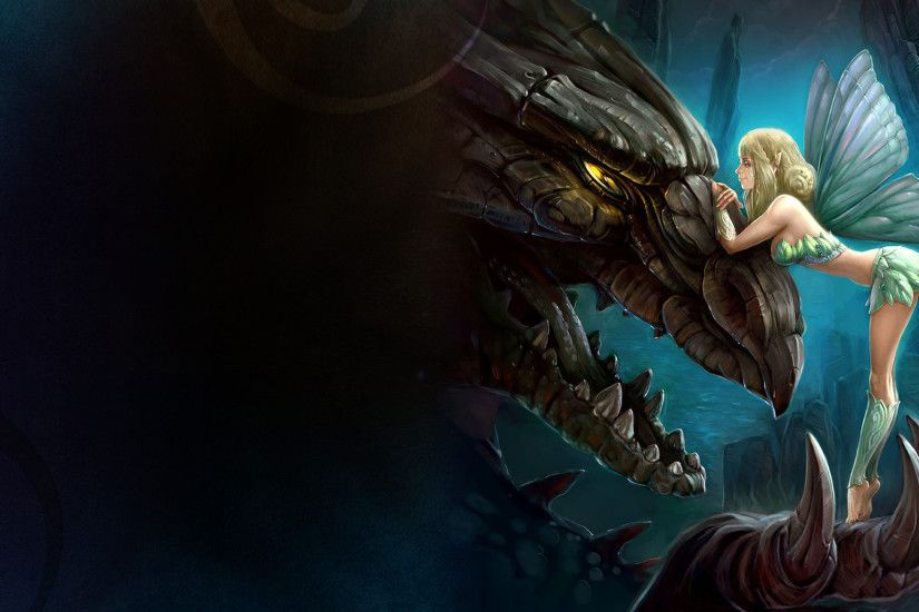 Dragon Dark Fairy HD Wallpaper 1920×1080