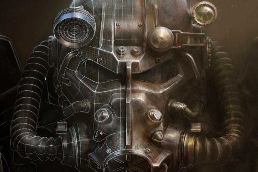 Fallout 4, Helmet, Artwork, Bethesda Softworks, Video Games, Fallout, Power