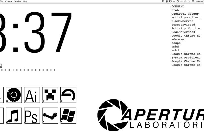 I decided to Aperture Science theme my desktop.