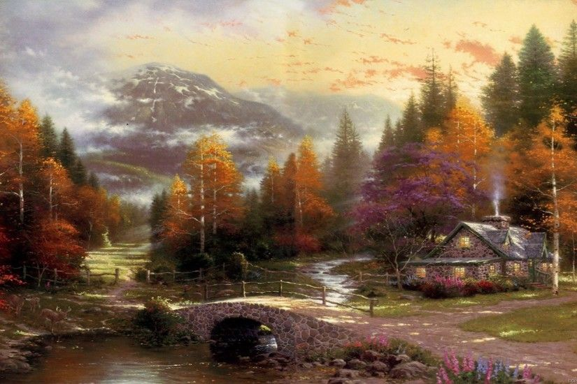 Thomas Kinkade Paintings. Thomas Kinkade Wallpaper And Screensavers .