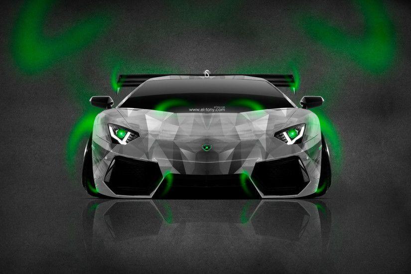 Lamborghini Aventador Neon Aerography Car 2014 | El Tony .