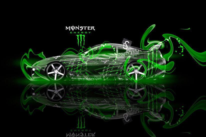 Monster Energy Toyota Supra Fantasy Green Plastic 2013