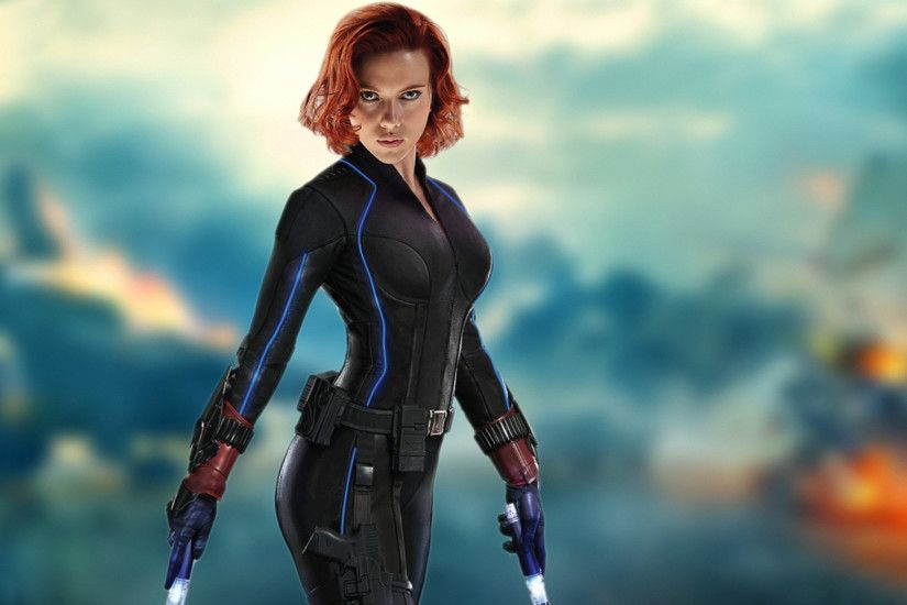 Scarlett johansson black widow avengers wallpaper - photo#6