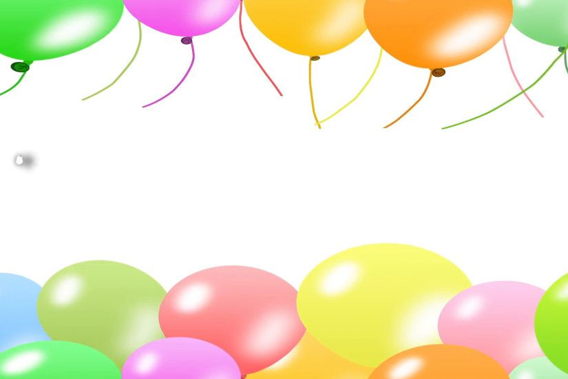 Happy birthday with balloon style 3d word and colorful balloons background.  Motion Background - VideoBlocks