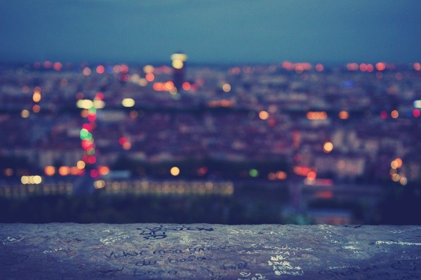 Full HD Blurred City Lights Wallpaper