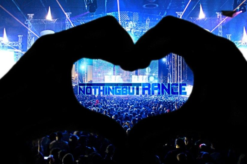 Music - Trance Hand Heart Crowd Concert Rave Wallpaper