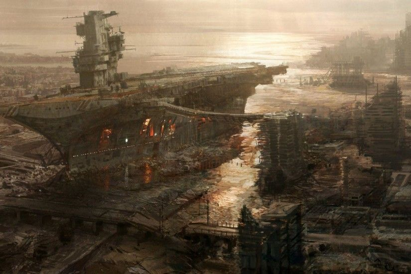 Destroyed Battleship Wallpaper