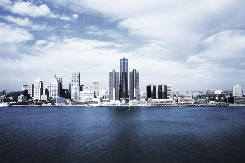 Pin Detroit Skyline Wallpaper 1366x768 on Pinterest