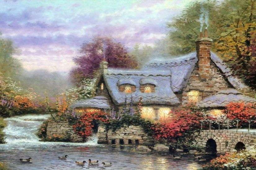 thomas kinkade desktop thomas kinkade christmas desktop wallpaper .