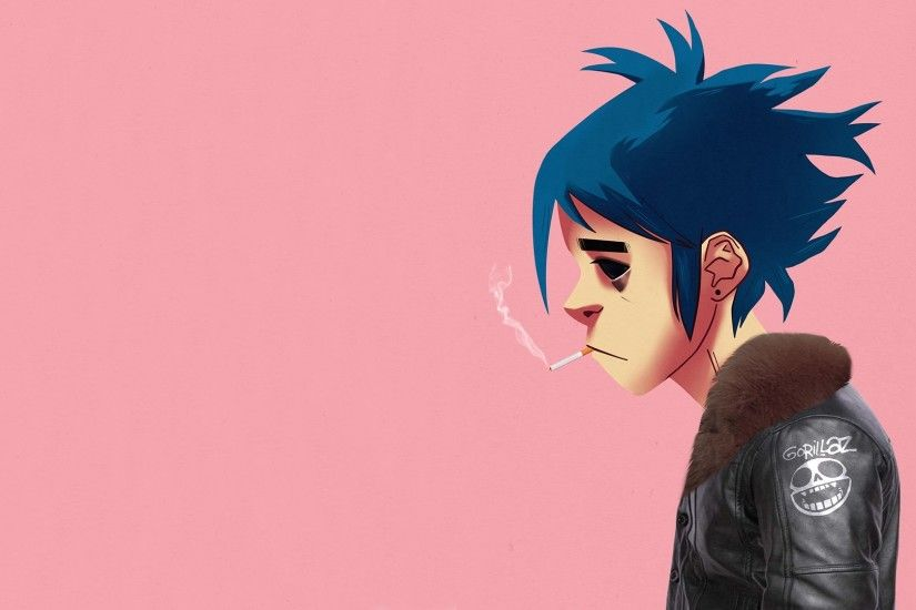 Gorillaz, 2D, Simple background, Smoking Wallpapers HD / Desktop and Mobile  Backgrounds