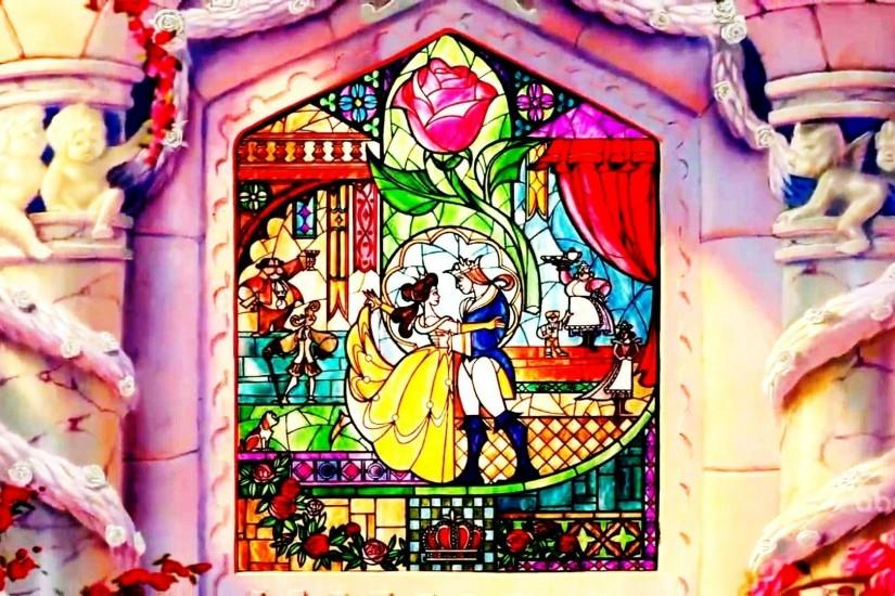 Beauty And The Beast Stained Glass Wallpaper 797199