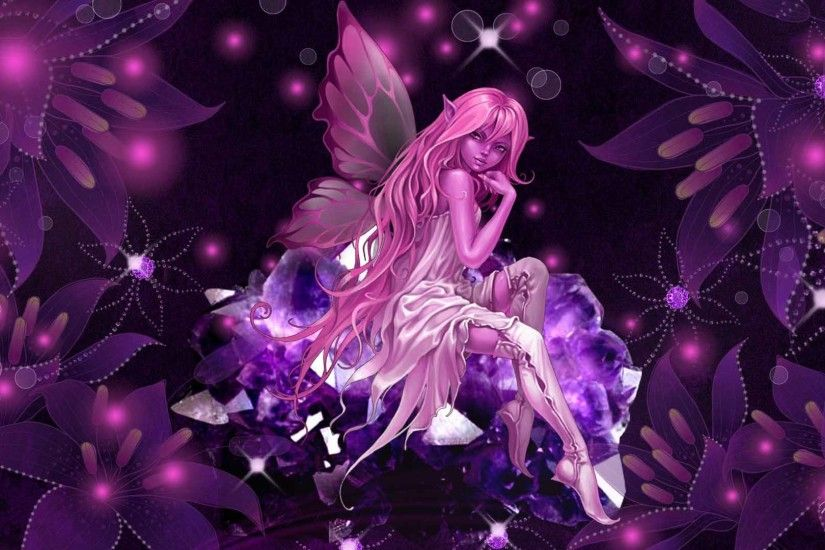 Wallpapers For > Pink Fairy Wallpaper