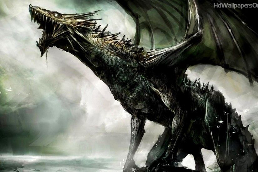 Black Dragon HD Wallpaper | 4hotos