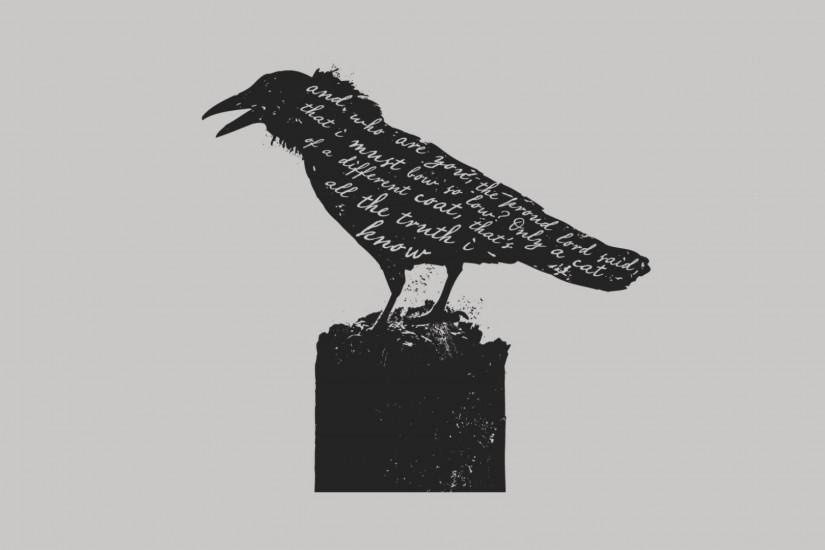 Preview wallpaper crow, bird, letters 3840x2160