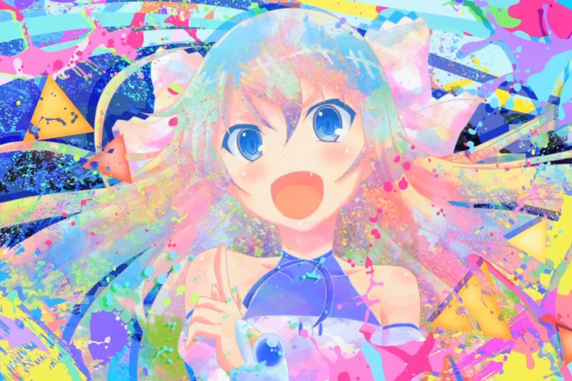 Anime - Invaders of Rokujouma Anime Girl Colorful Wallpaper