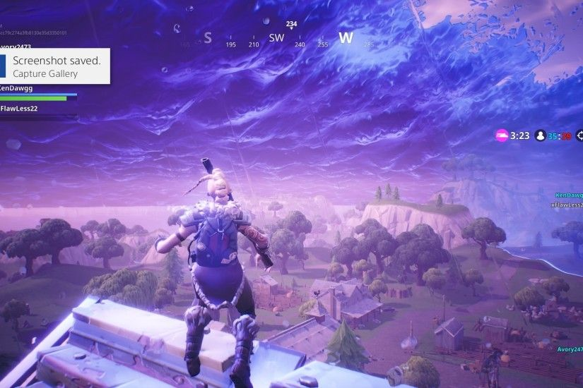 Fortnite Down In Storm Widescreen Desktop Wallpaper 1457