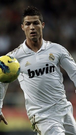 Preview wallpaper cristiano ronaldo, real madrid, football player, ball,  football 1080x1920