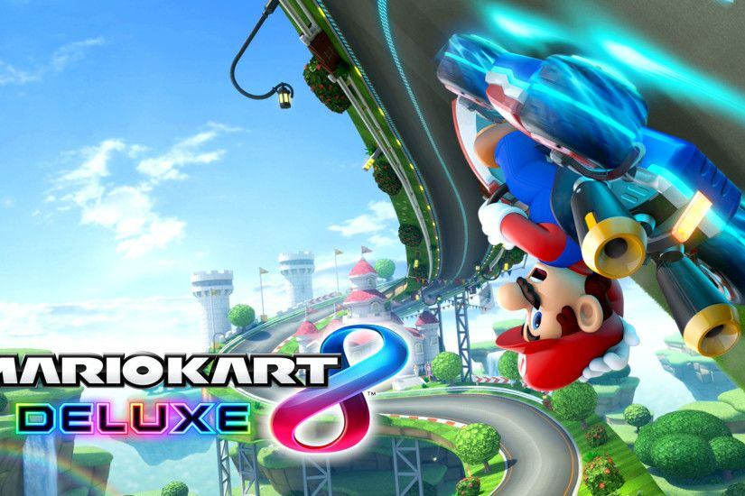 A collection of Mario Kart 8 Deluxe wallpapers.
