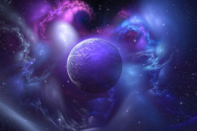 hd pics photos blue planet galaxy stars desktop background wallpaper