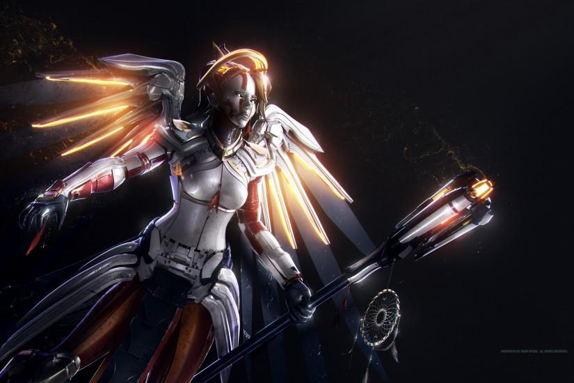 download free overwatch mercy wallpaper 2560x1600 picture