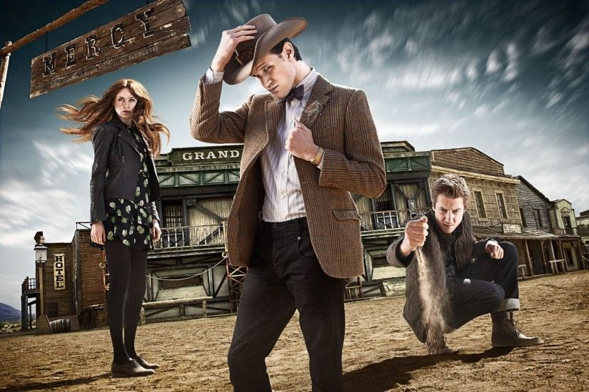 tv series doctor who doctor who the eleventh doctor matt smith matt smith  karen gillan karen gillan ...