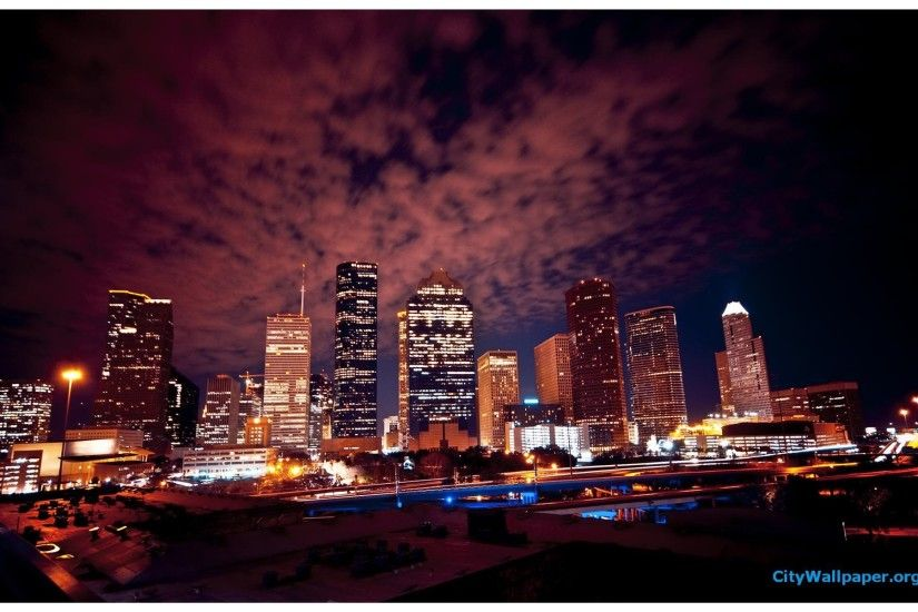 Houston Skyline At Night ...