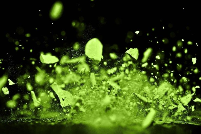 green paint splatter background. spray debris paint green splatter  background