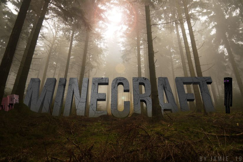 Video Game - Minecraft Landscape Forest Manipulation Wallpaper