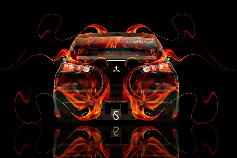... Mitsubishi-Lancer-Evolution-X-Fire-Abstract-Car-2014- ...