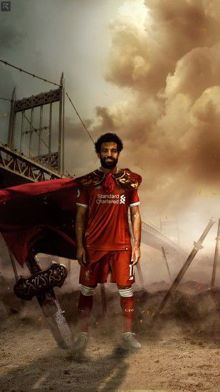 ... Mohamed Salah Liverpool lock screen/wallpaper 2017 by Ropn1996