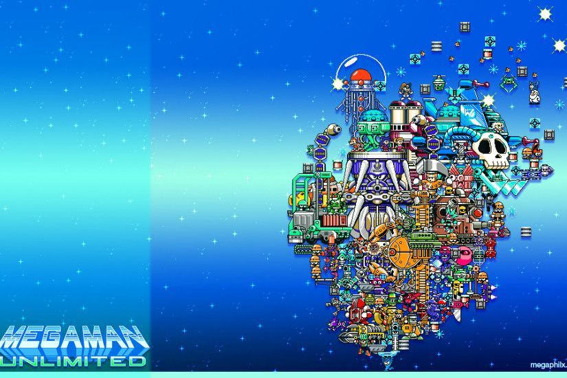 "... x 1200 Wallpaper ""2nd Anniversary Stage Select"" Download the Megaman  Unlimited "" ..."