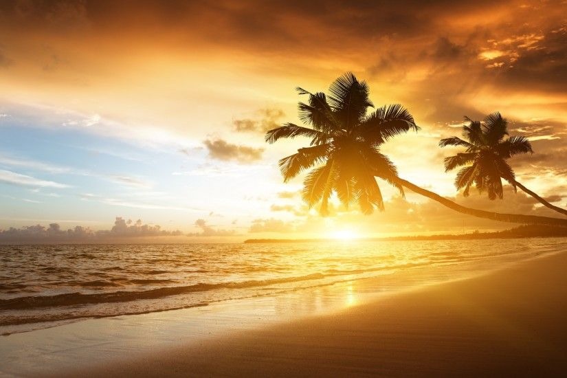 Sunset Beach Wallpaper Background 13934