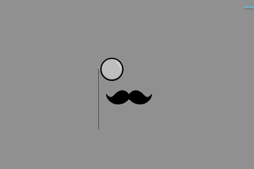 Monocle & Mustache wallpaper - Minimalistic wallpapers - #