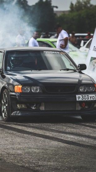 Preview wallpaper toyota, chaser, drift, side view 1440x2560