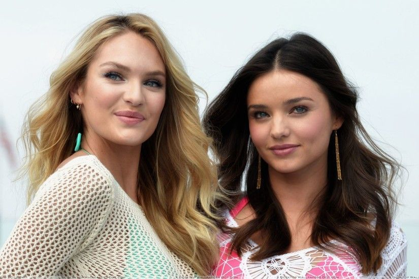 "You are viewing wallpaper titled ""Miranda Kerr N Candice ..."