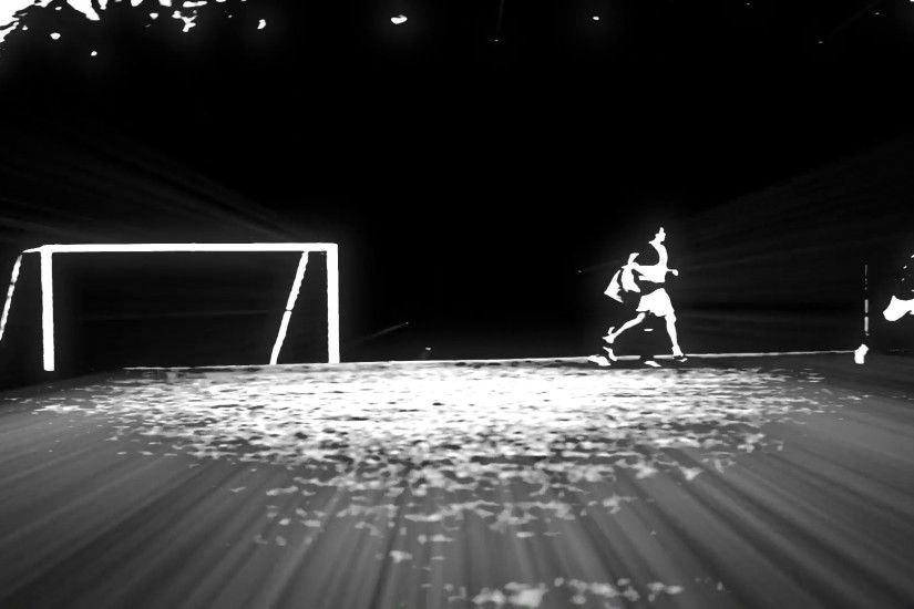 Cool shot of Soccer players playing on a field. Black and White effects  Stock Video Footage - VideoBlocks