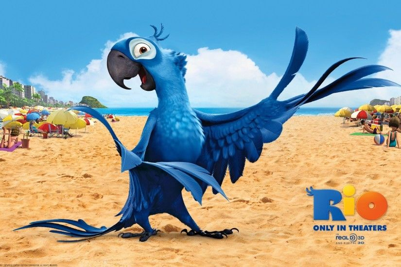 Rio 2 Movie Blue Bird Wallpaper HD For Desktop