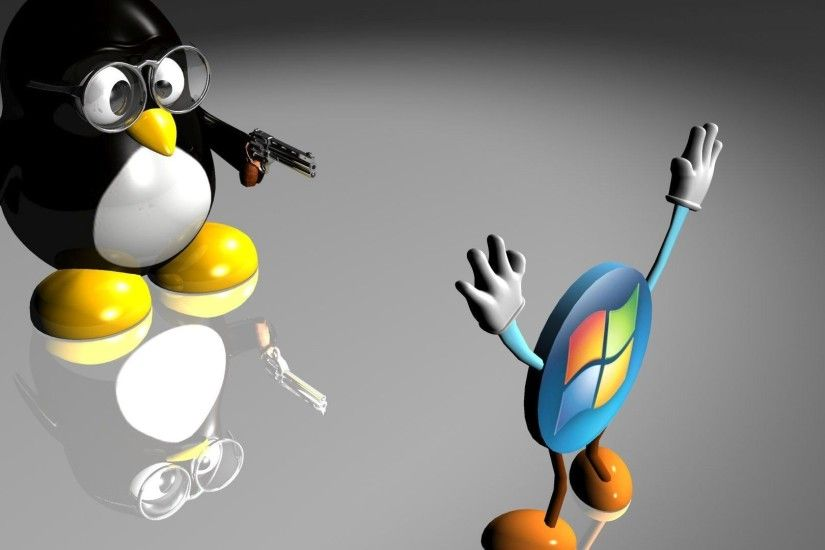 ... War Zone: Linux VS. Windows by wyatt8740 on DeviantArt Linux Penguin  Windows - wallpaper.