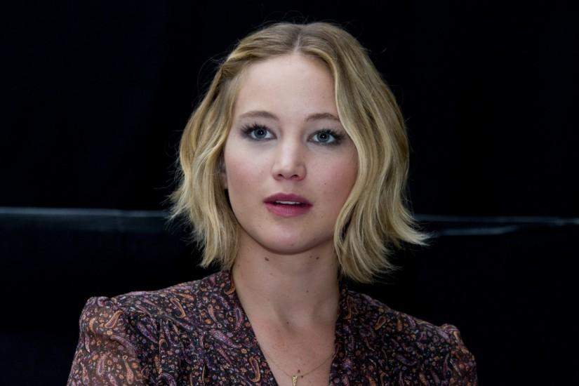 Preview wallpaper jennifer lawrence, blonde, look, make-up 3840x2160