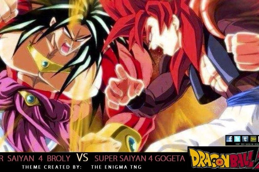 Dragon Ball Z - SS4 Broly VS SS4 Gogeta Theme (The Enigma TNG) - YouTube