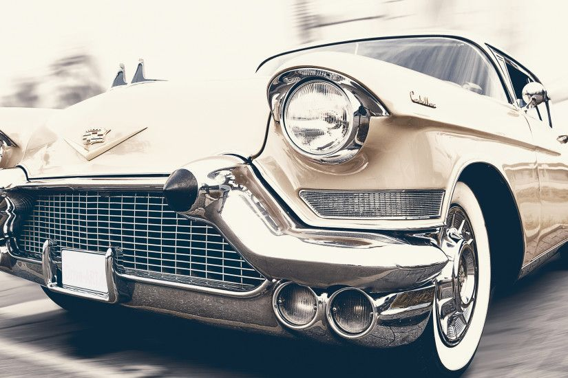 Preview wallpaper cadillac, oldtimer, front view 3840x2160