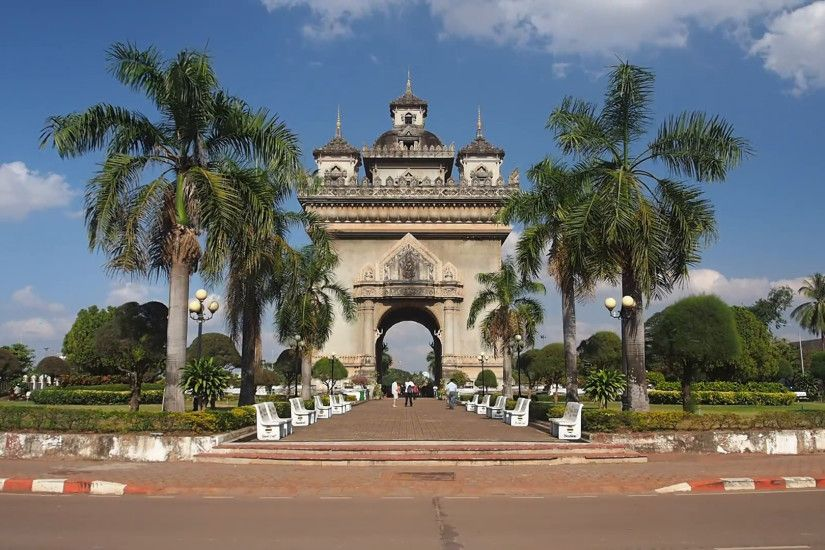 Time Lapse of Patuxai Victory Monument in Vientiane, Laos Stock Video  Footage - VideoBlocks