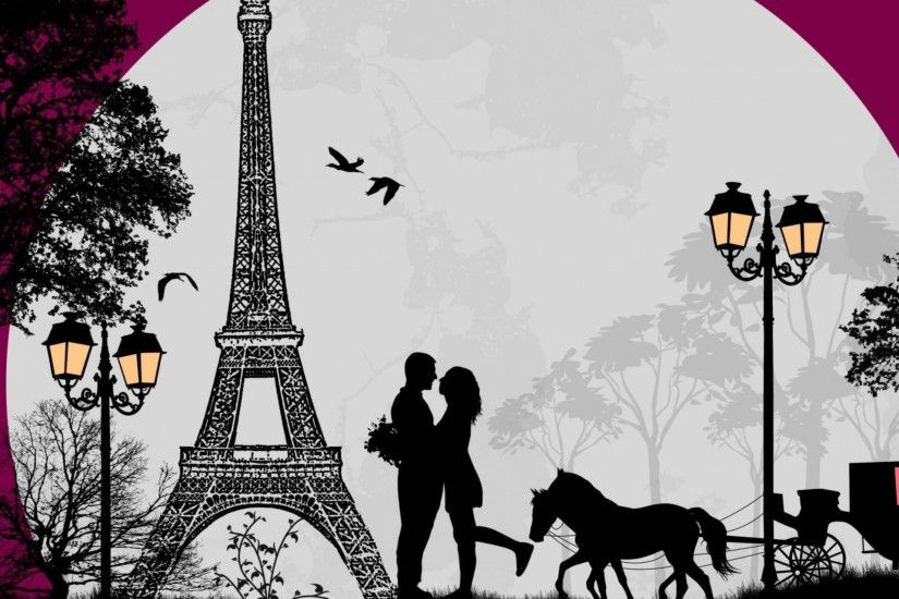 Valentines Day In Paris Wallpaper Wide or HD | Digital Art Wallpapers