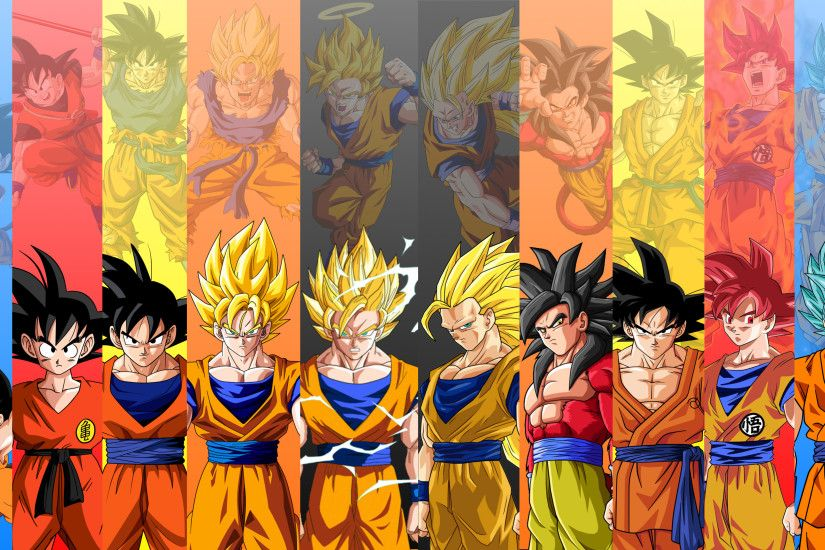 ... Goku - 10 Forms - SSJ4 Added ...