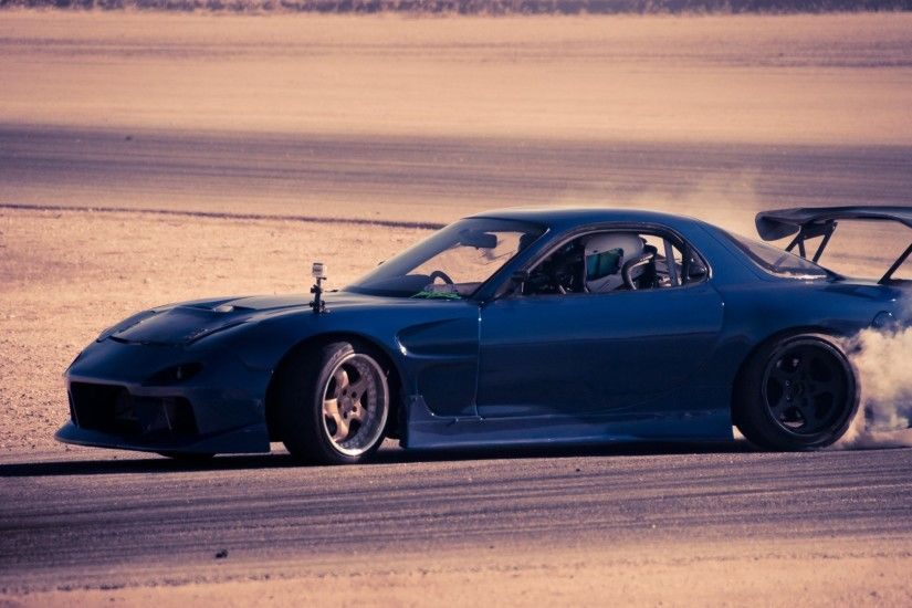 1920x1080 Wallpaper mazda, rx 7, blue, cars, speed