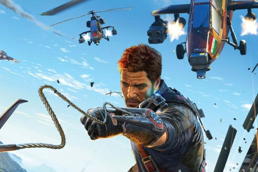 Preview wallpaper just cause 3, just cause, rico rodriguez, airplanes,  helicopters,