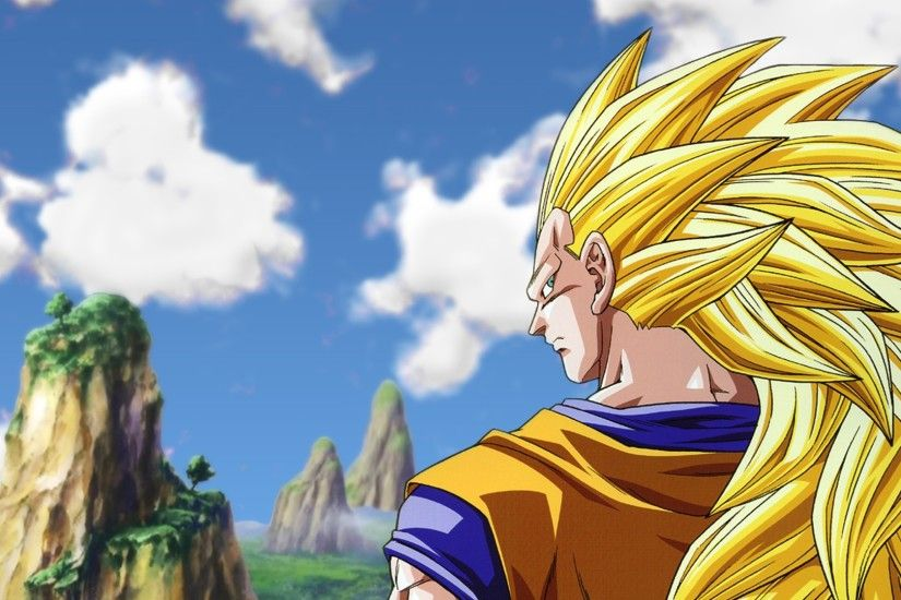 3840x2160 Wallpaper goku super saiyan 3, man, look, austere, street